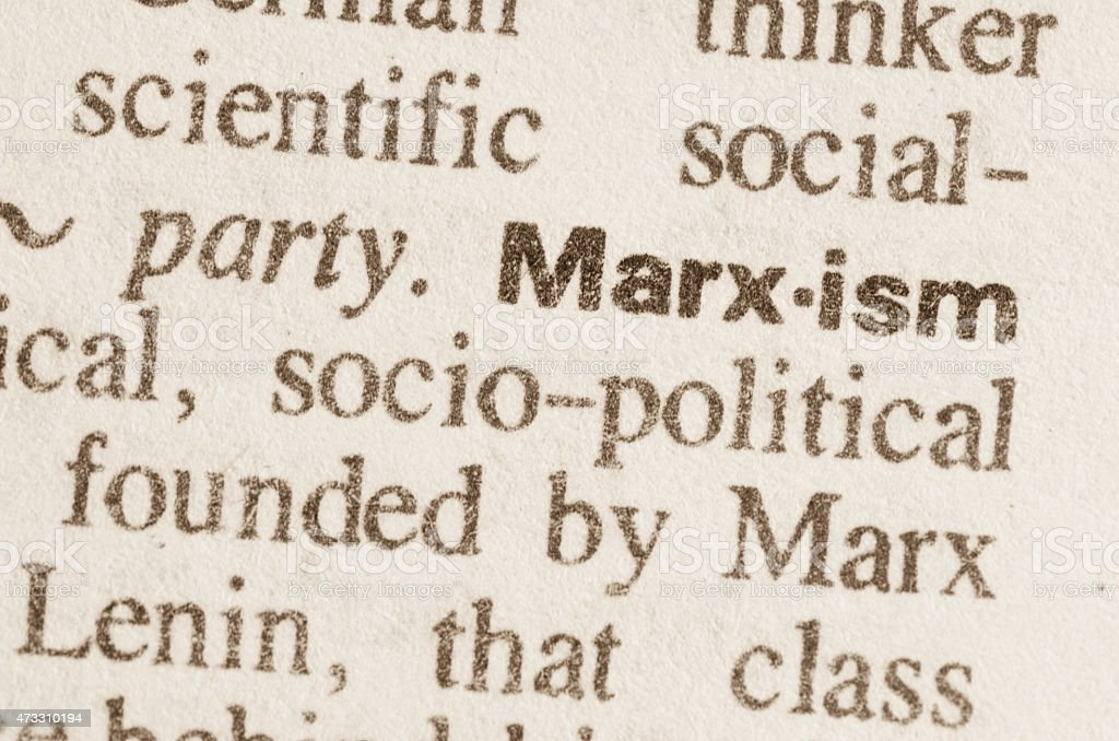 Dictionary definition of word Marxism stock photo