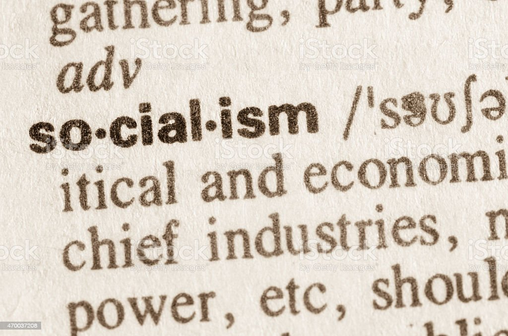 Dictionary definition of word socialism stock photo