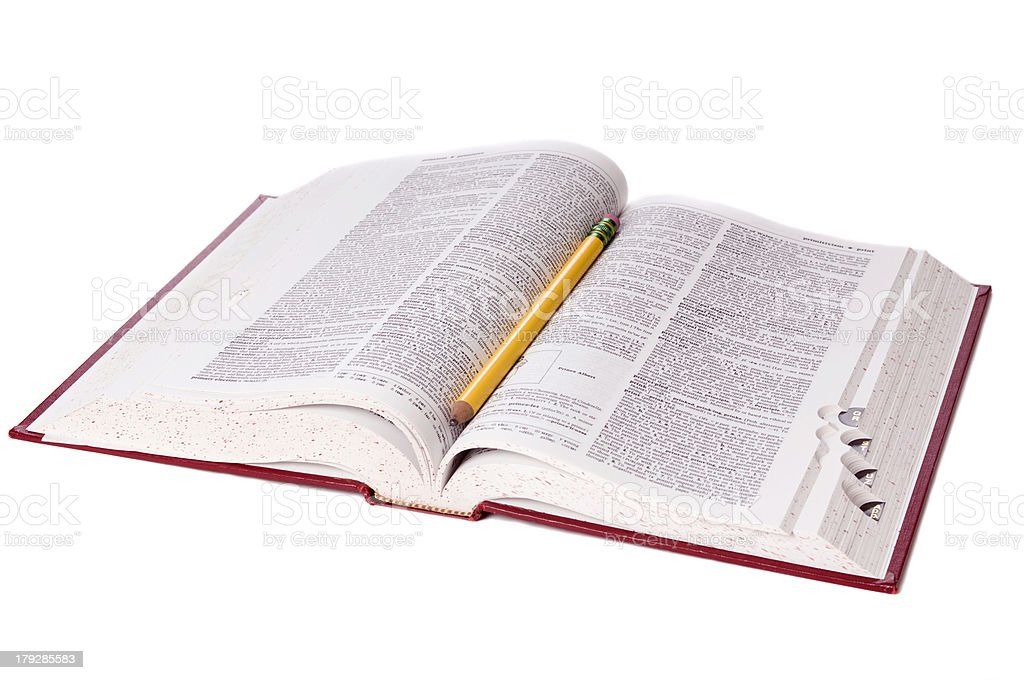 Dictionary stock photo