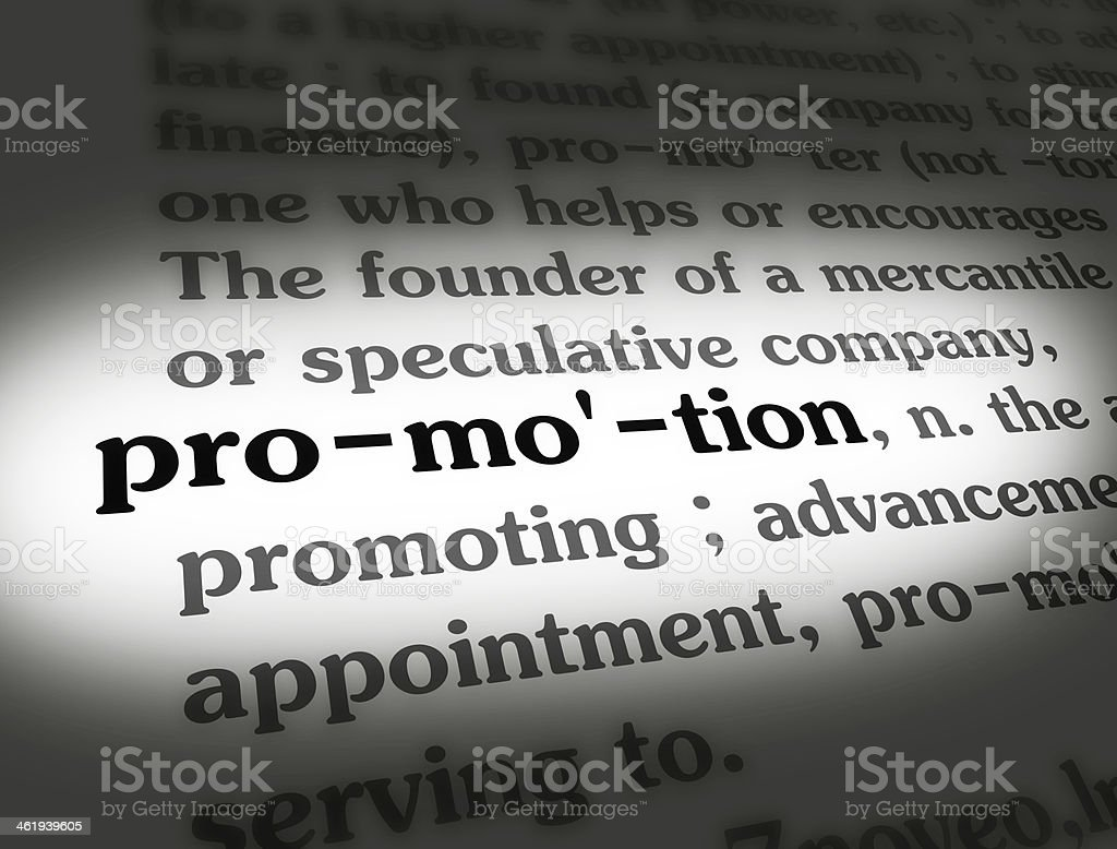 Dictionary Promotion Black On White stock photo