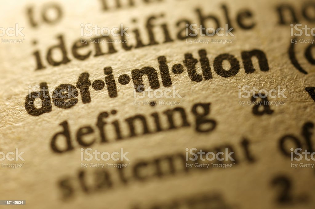 Dictionary Series - Definition stock photo