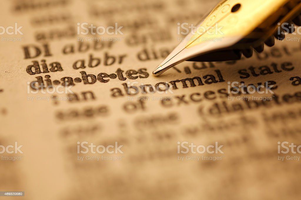 Dictionary Series : Diabetes stock photo