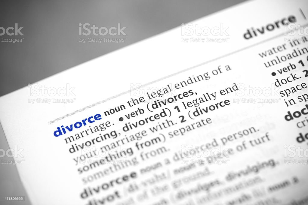 Dictionary Series - Divorce royalty-free stock photo