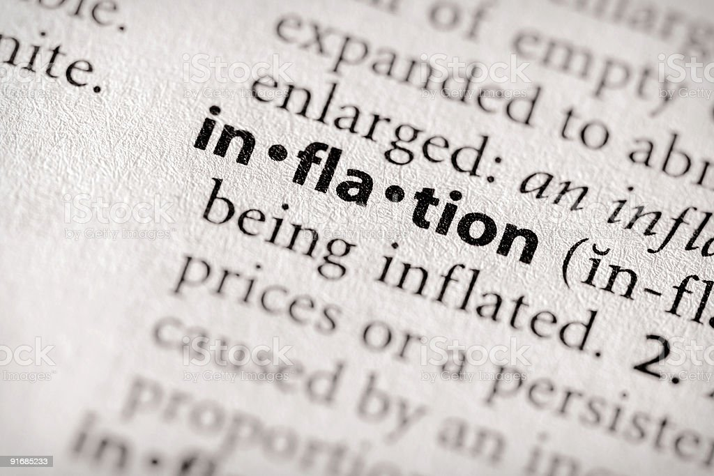 Dictionary Series - Economics: inflation stock photo