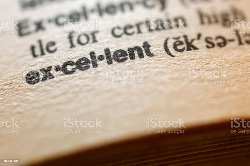 Dictionary Series - Excellent stock photo
