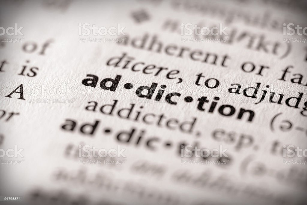 Dictionary Series - Health: Addiction stock photo