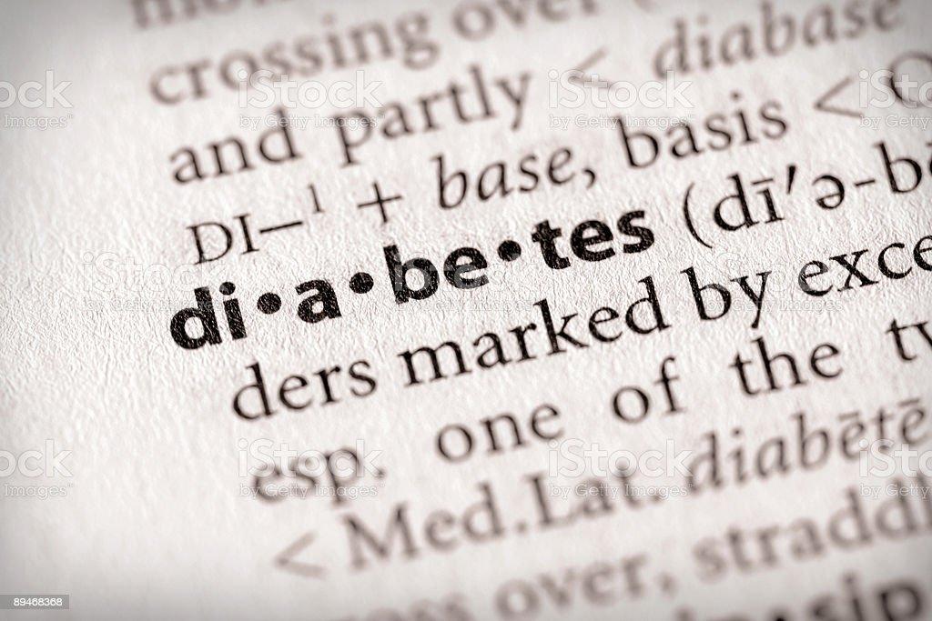 Dictionary Series - Health: Diabetes royalty-free stock photo