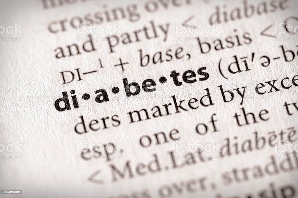 Dictionary Series - Health: Diabetes stock photo