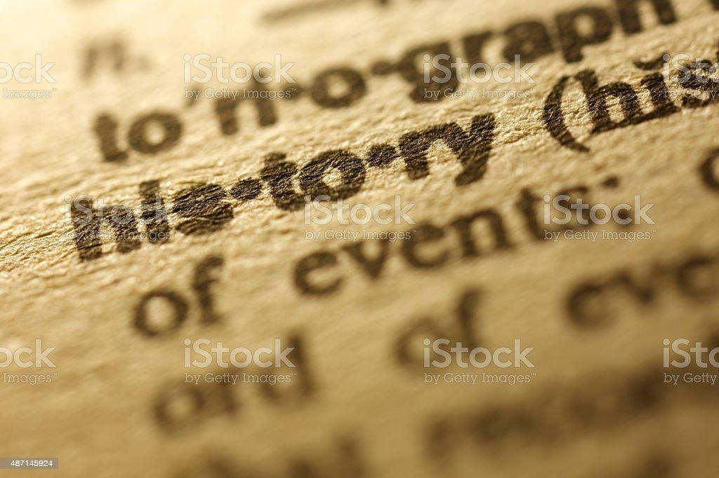 Dictionary Series - History stock photo