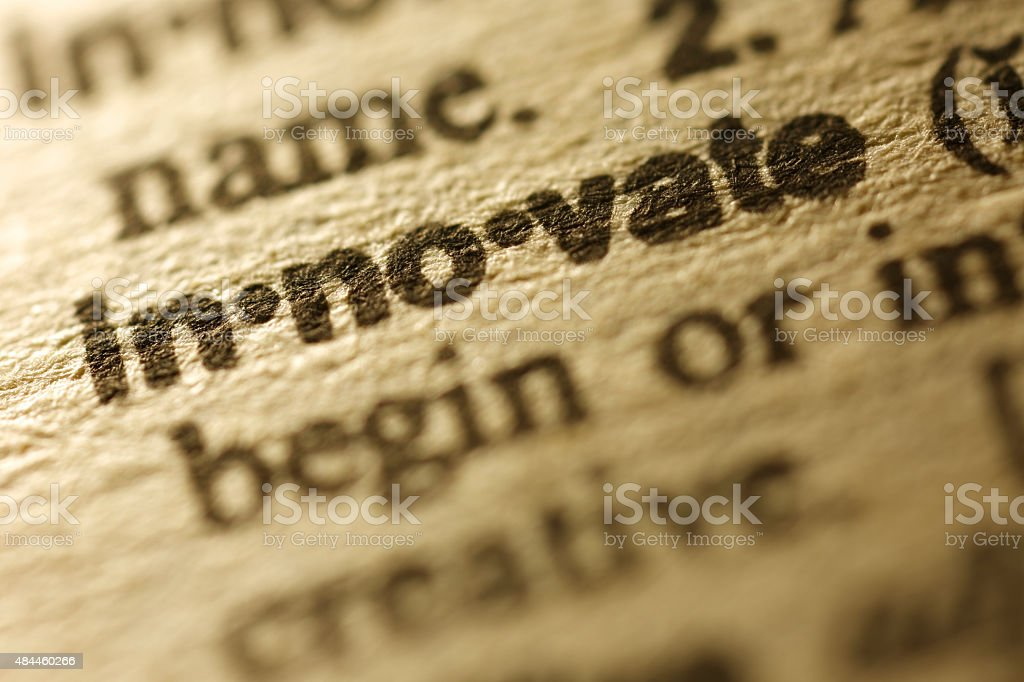 Dictionary Series -  Innovate stock photo