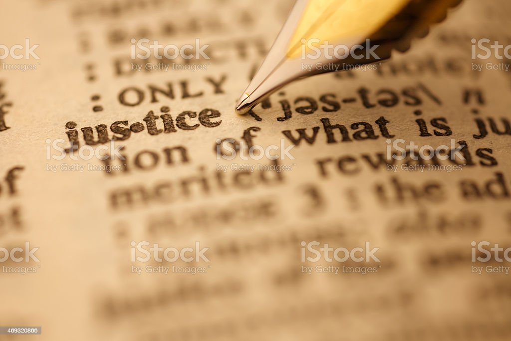 Dictionary Series : Justice stock photo