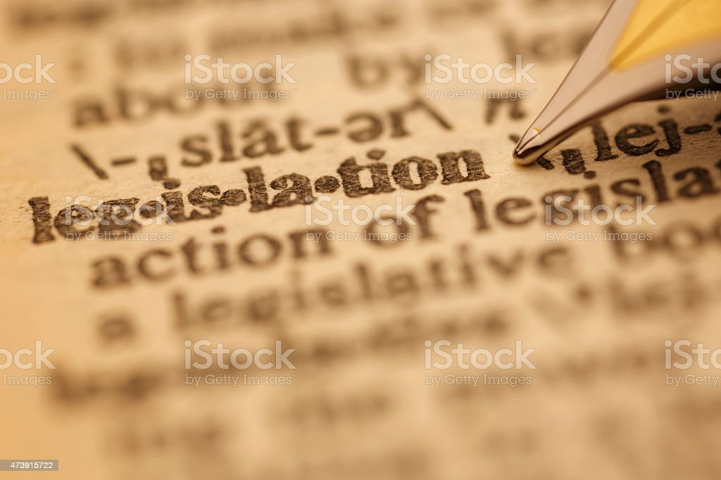 Dictionary Series : Legislation stock photo