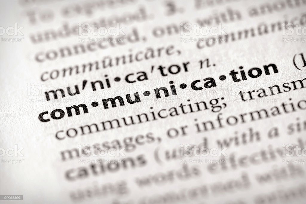 Dictionary Series - Marketing: Communication stock photo