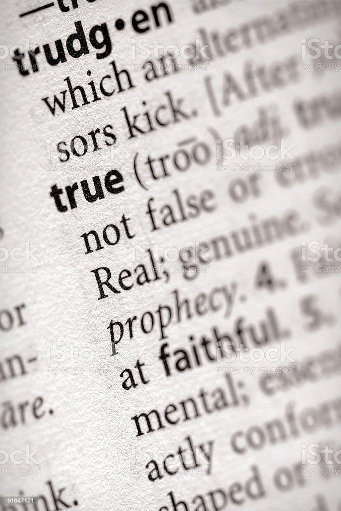 Dictionary Series - Philosophy: True royalty-free stock photo