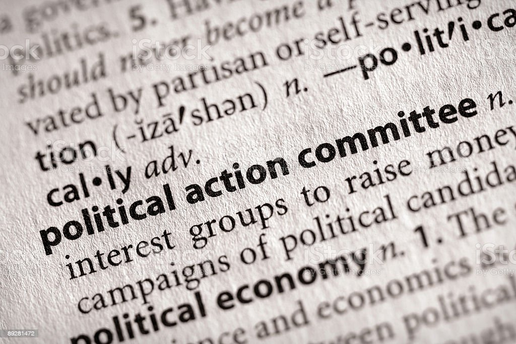Dictionary Series - Politics: PAC stock photo
