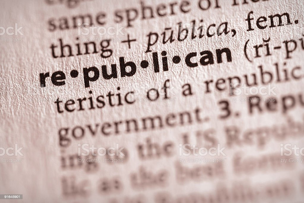 Dictionary Series - Politics: Republican royalty-free stock photo