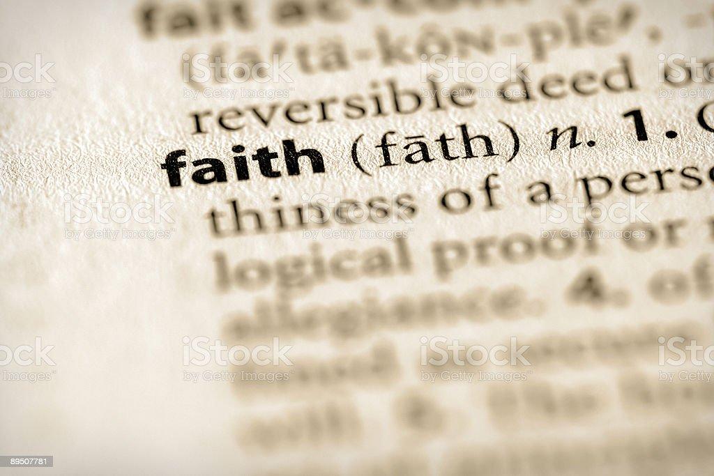 Dictionary Series - Religion: Faith royalty-free stock photo
