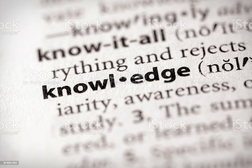Dictionary Series - Science: knowledge royalty-free stock photo