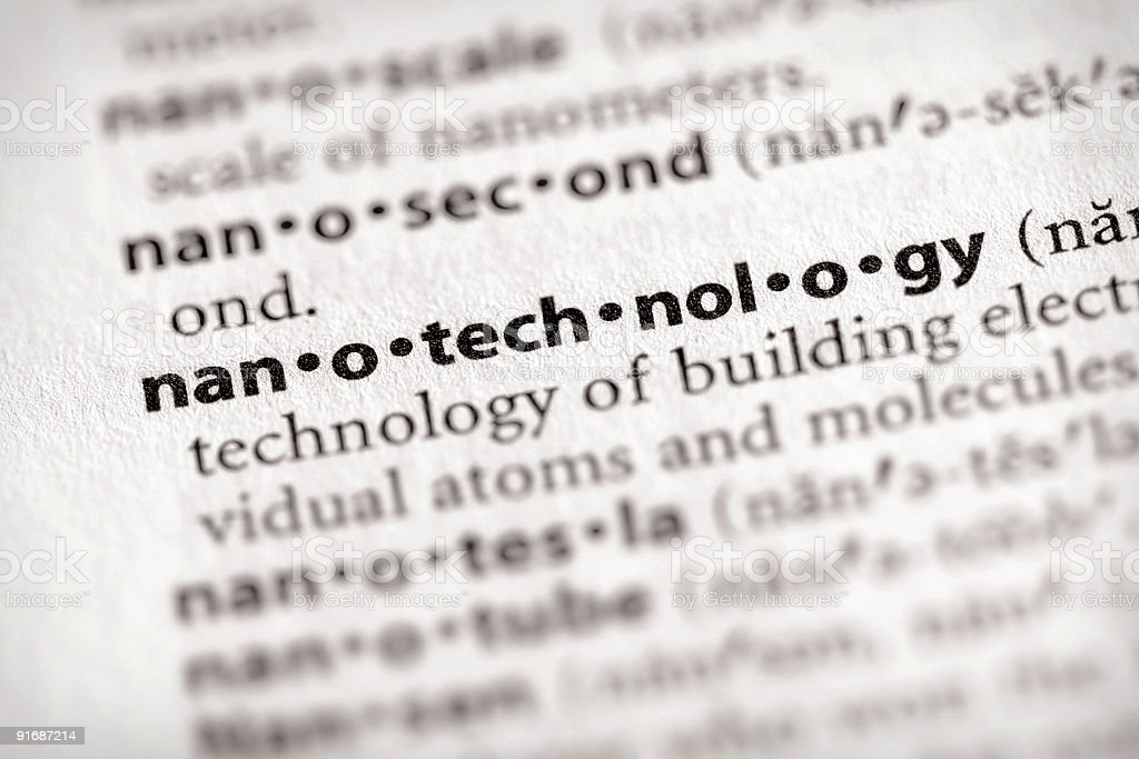 Dictionary Series - Science: nanotechnology stock photo