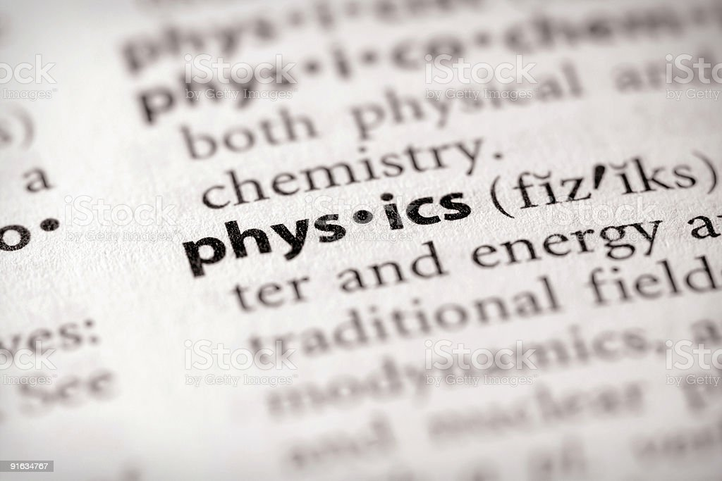Dictionary Series - Science: physics royalty-free stock photo
