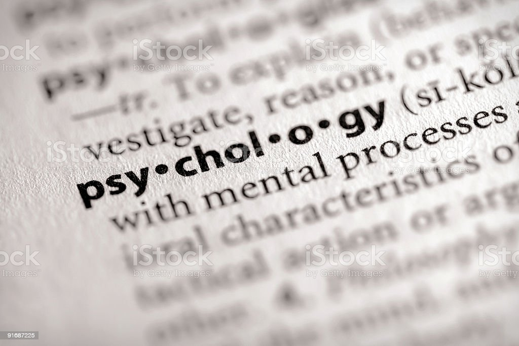 Dictionary Series - Science: Psychology royalty-free stock photo