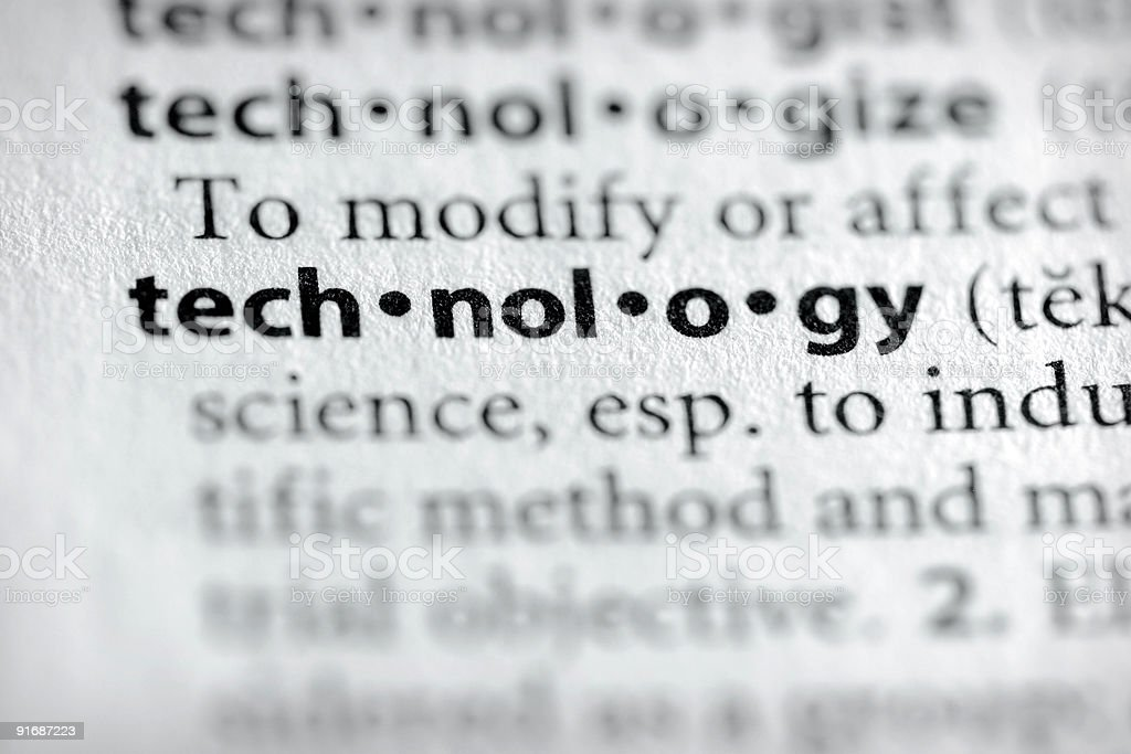 Dictionary Series - Science: Technology stock photo
