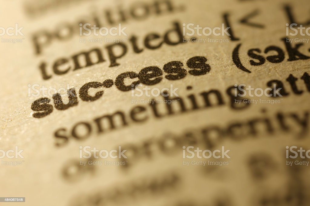 Dictionary Series - Success stock photo