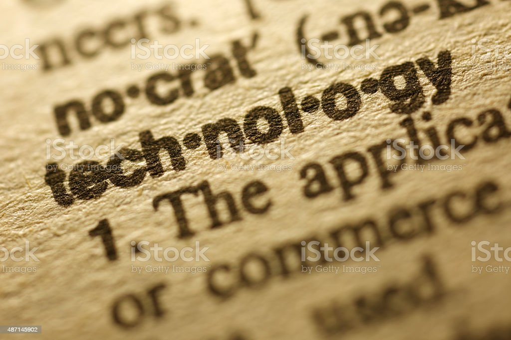 Dictionary Series - Technology stock photo