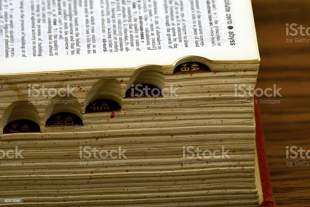 dictionary tabs royalty-free stock photo