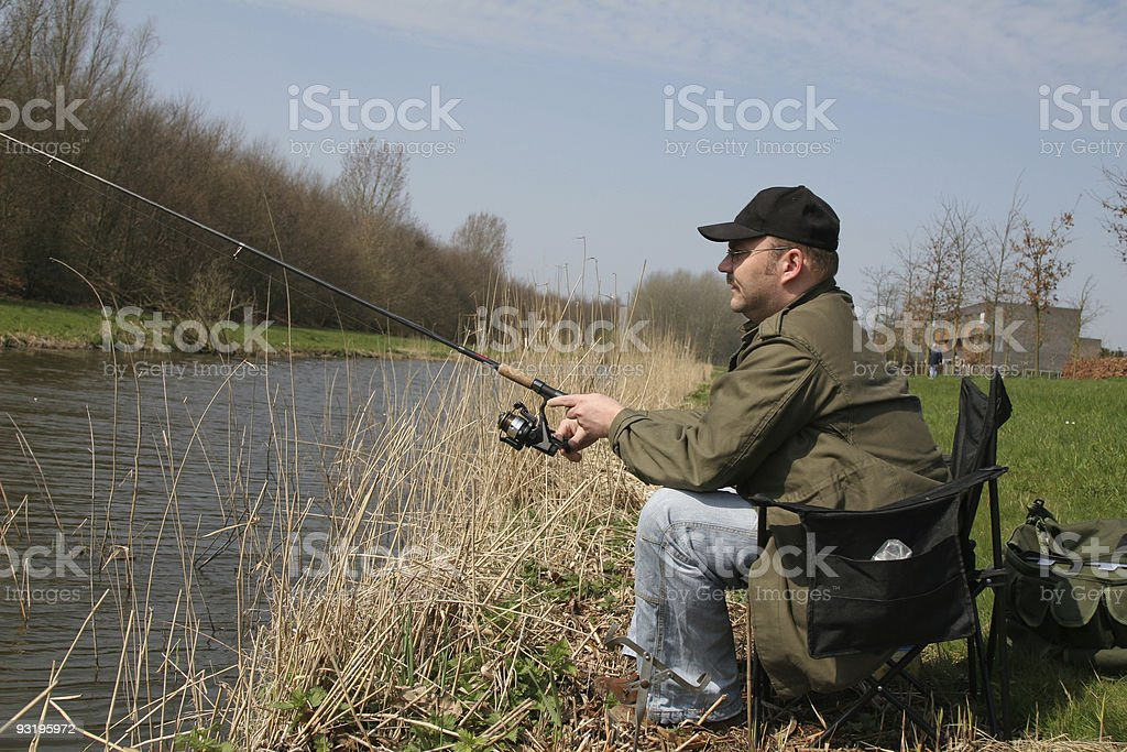 Did I catch anything? royalty-free stock photo