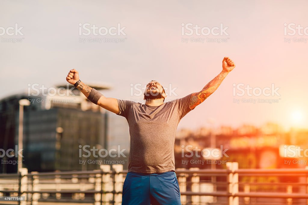 I Did It! stock photo