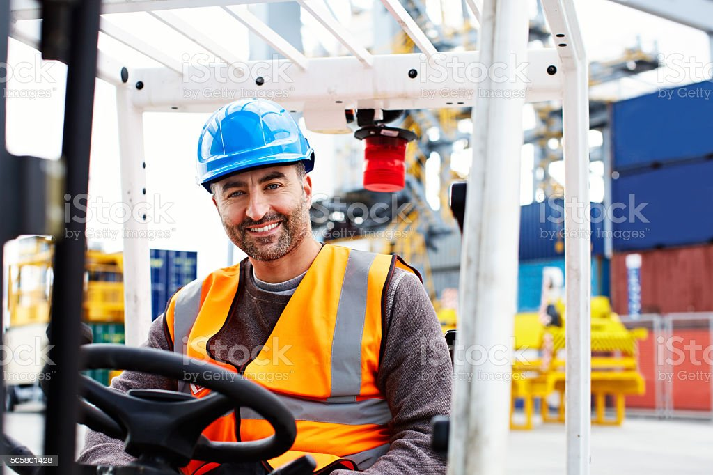 Did somebody call for a forklift? stock photo