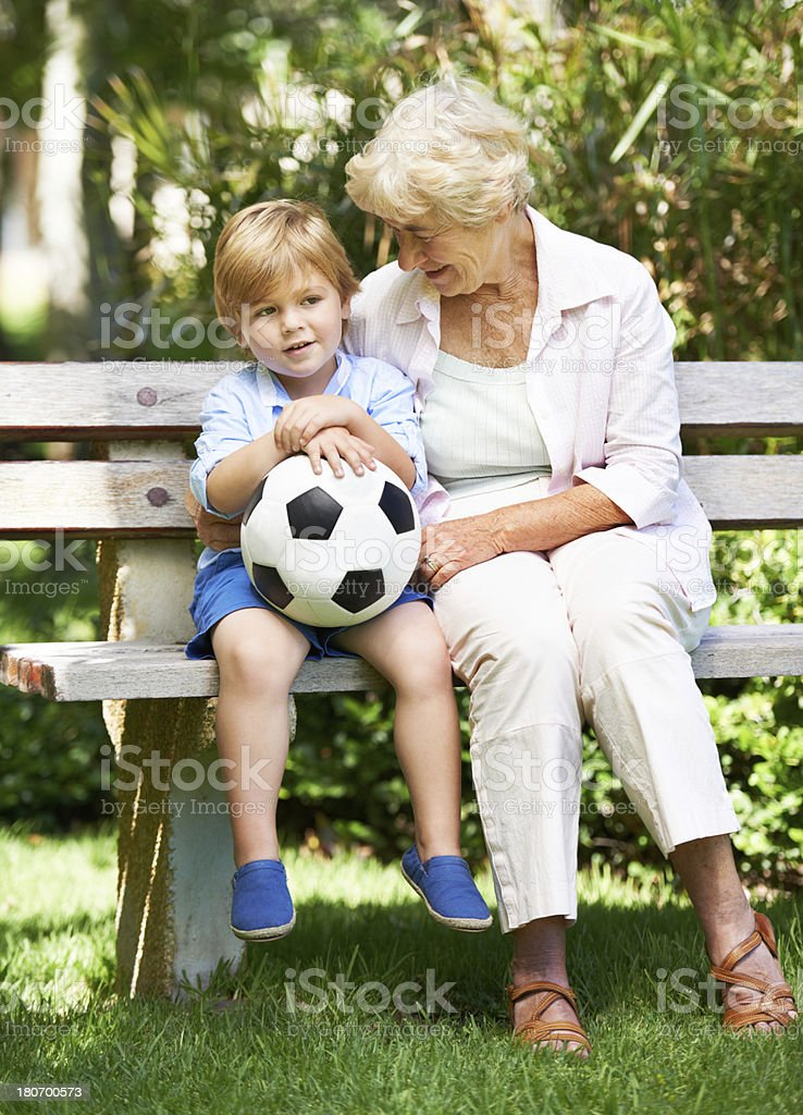 Did you enjoy your soccer game royalty-free stock photo