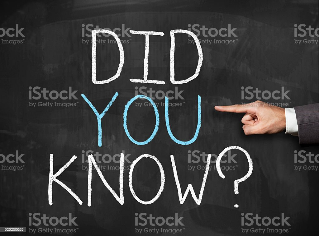 Did you know / Blackboard (Click for more) stock photo