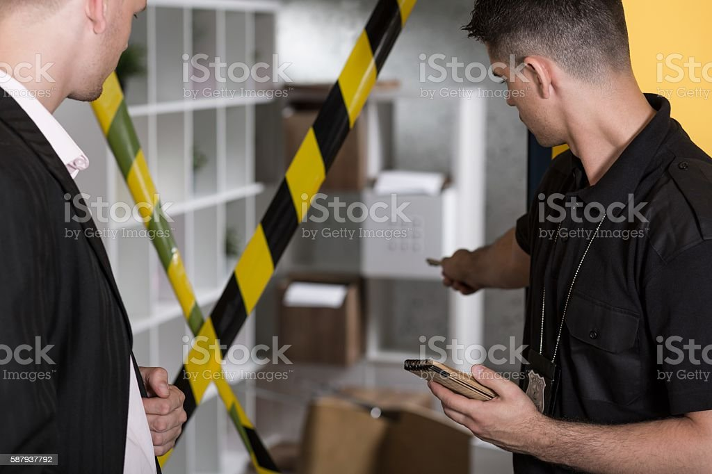 Did you touch this box? stock photo