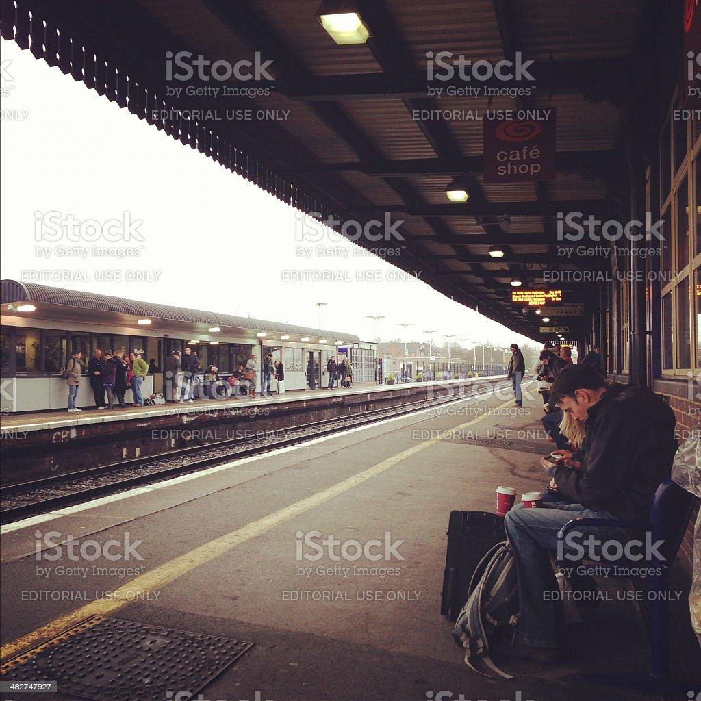 Didcot Parkway Railway Station stock photo