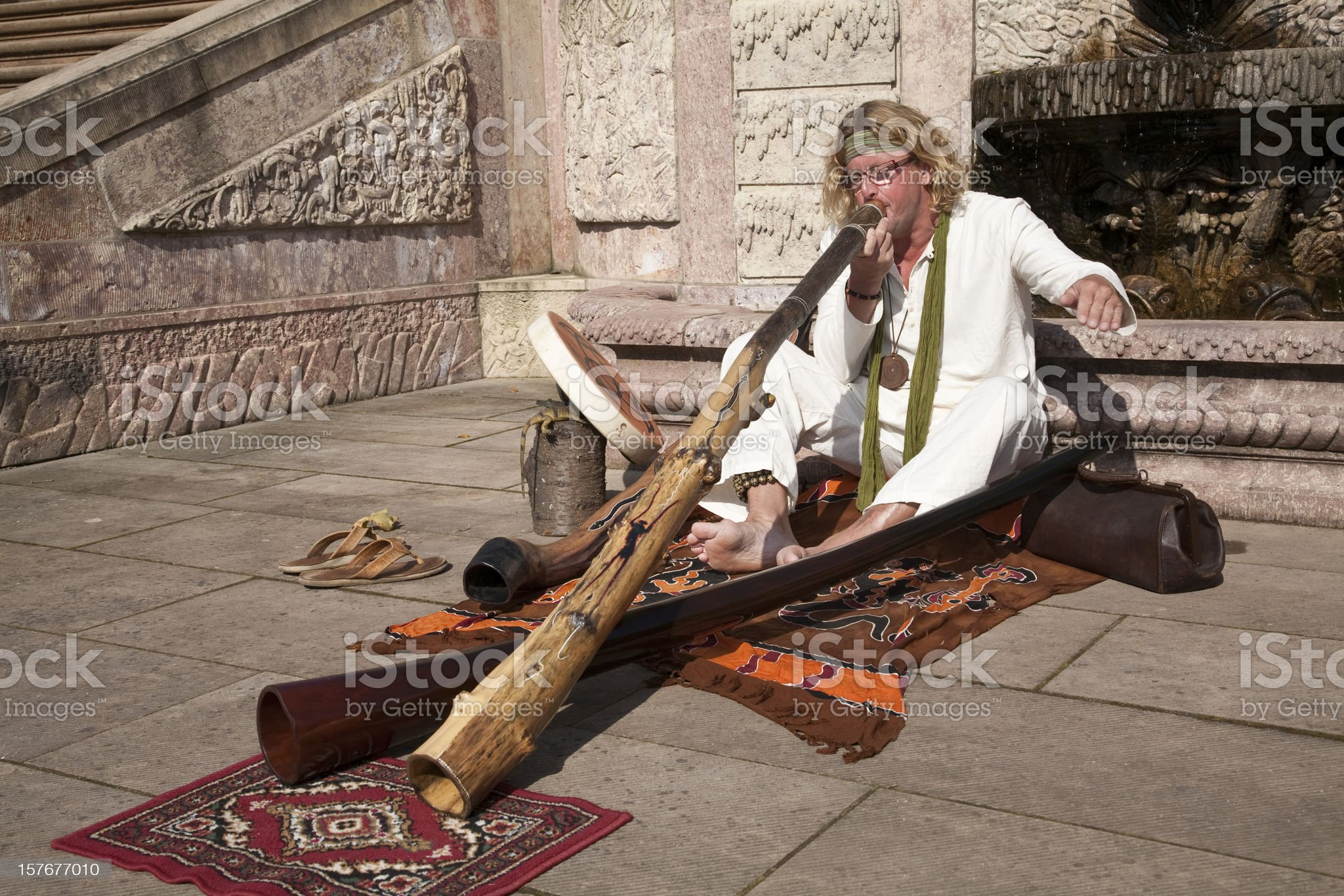 Didgeridoo-Player royalty-free stock photo