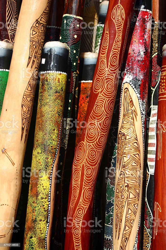 Didgeridoos stock photo