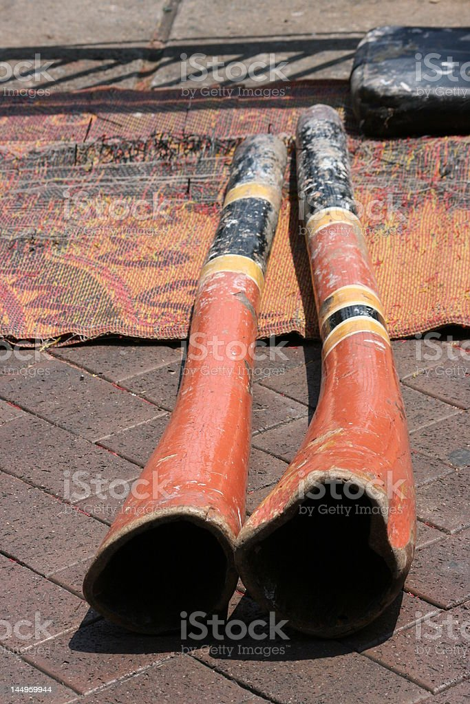 didjeridoo stock photo