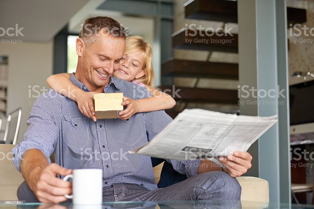 I didn't forget your birthday Dad stock photo