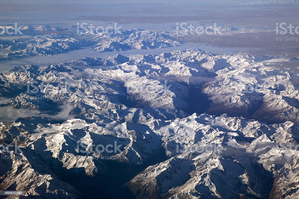 Die Alpen von Oben stock photo