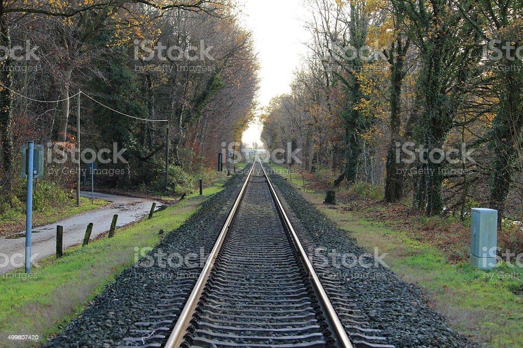 Die Bahnlinie stock photo
