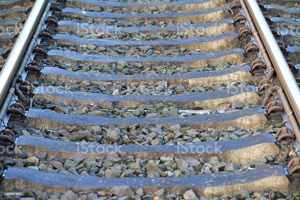 die Bahnschiene stock photo
