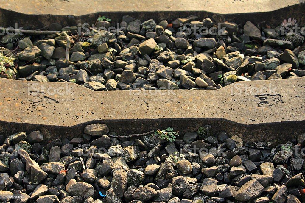 Die Bahnschwelle stock photo