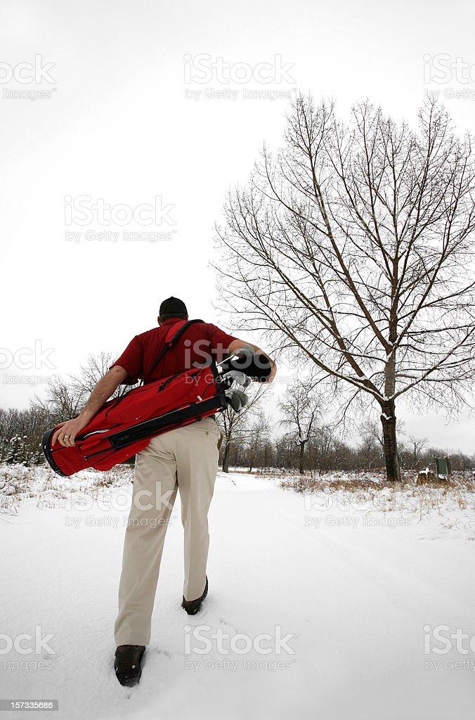 Die Hard Golfer stock photo