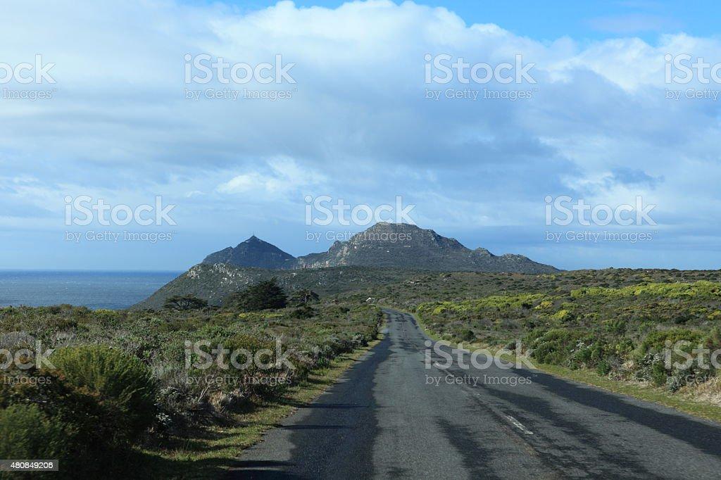 Die Landschaft beim Kap der Guten Hoffnung in S?dafrika stock photo