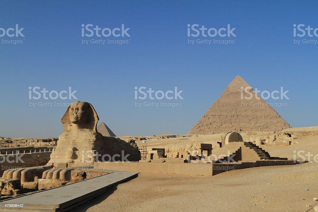 Die Pyramiden und Sphinx von Gizeh in ?gypten stock photo