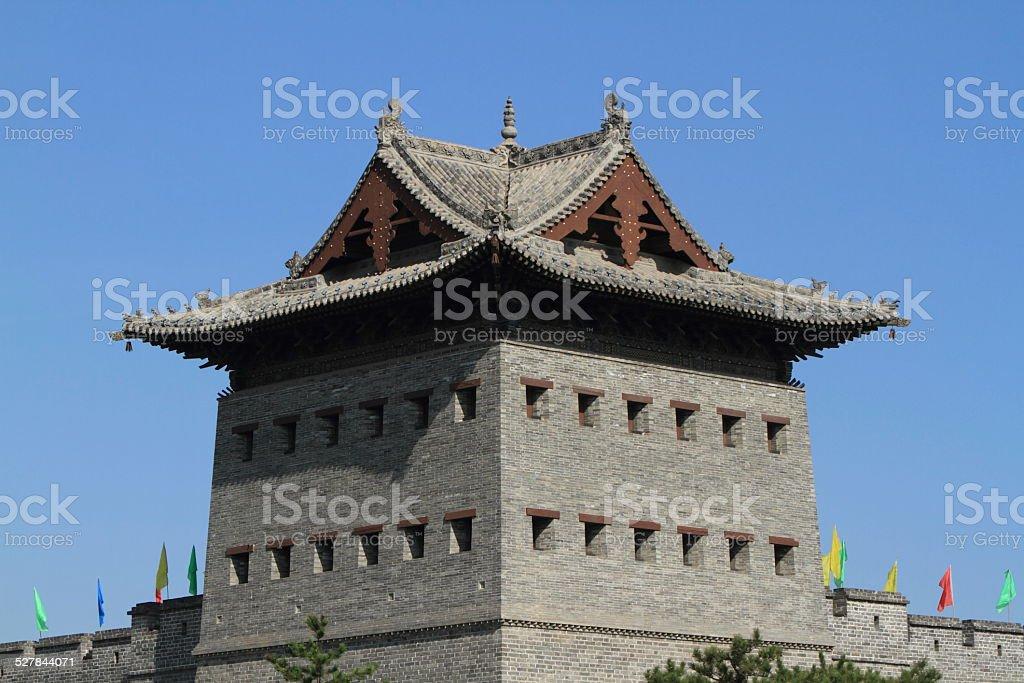 Die Stadtmauer von Datong in China stock photo