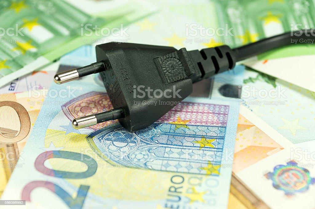 Die Stromkosten stock photo