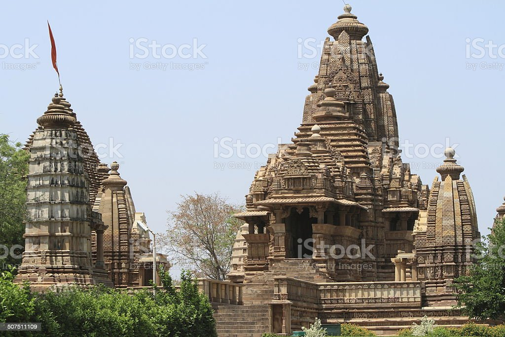 Die Tempelstadt Khajuraho in Indien stock photo